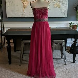 Fushia evening dress size small